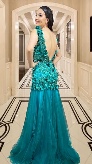 Vestido Verde Vigevano