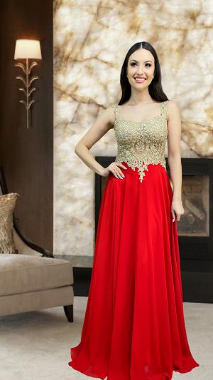 Vestido vermelho Cesena