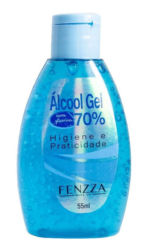 Álcool em Gel 70% com Glicerina 55ml *saúde*-6654