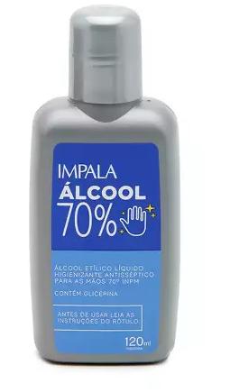 Álcool Liquido 70% com Glicerina para as Mãos 120ml     *Saúde*