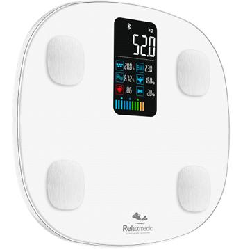 Balança Digital C/ Bioimpedância Cardio App Relaxmedic