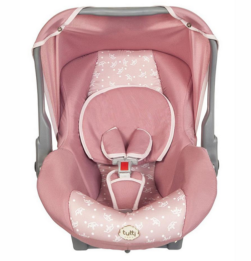 Bebê Conforto Tutti Baby Nino - 0 a 13kg - Rosa Coroa