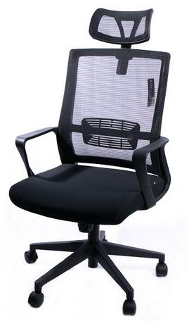 Cadeira para Escritório com Rodinha e Encosto Para Cabeça Apoio de Braço