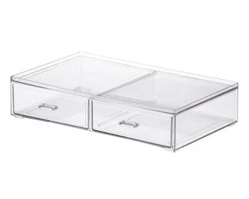 Caixa Organizadora Com 2 Gavetas 31,5x18, 5 7 Cm  4