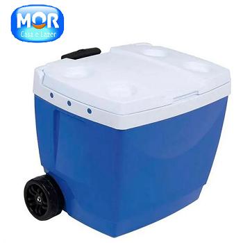 Caixa Térmica 42l Azul  Mor-6847