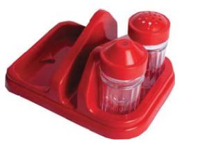Porta Guardanapo Com 3 Peças Cor Vermelho e Preto