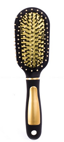 Escova P/Cabelo Dourada