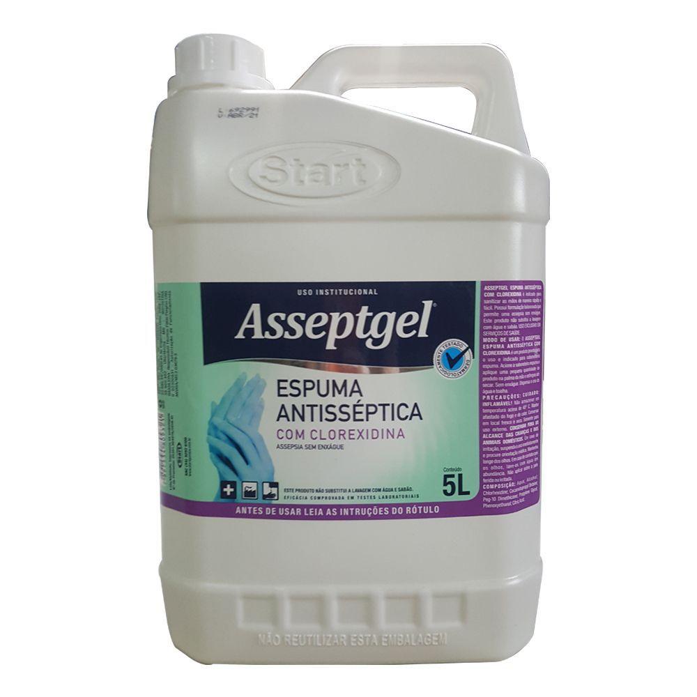 Espuma Asseptgel com Clorex para Higiene das Mãos 5lts
