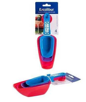 kit 04 Colher Medidores  Plástico
