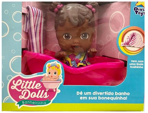 Little Dolls Banheirinha - Negra 8038