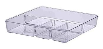Organizador Diamond Com Divisoria 31x31x 5 Cm 32