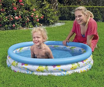 Piscina Bestway para crianças Ocean Life de 40 x 10 polegadas para crianças 102 x 25 cm