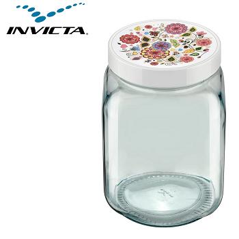 Pote Quadrado 1,3  Litros Mix Decorado Invicta-3448