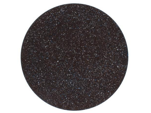 Prato Plástico - Sousplat Redondo  Marrom Rajado- 6120