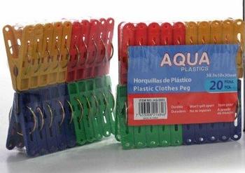 Pregador De Roupas De Plástico 20 Peças Cores Sortidas