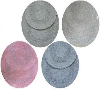 Tapete Para Banheiro 2 Peças Azul/Cinza/Rosa Sortido