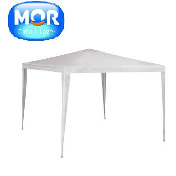 Tenda Gazebo 3x3m POL Branco Mor- 6913
