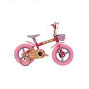 Bicicleta Aro 12 Top Kids Unicornio Feminina C/ Kit Lilás Athor Bike
