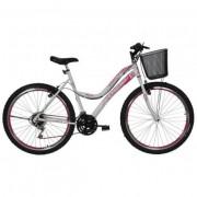 Bicicleta Feminina Aro 26 Athor Musa 18v Aro Aero Com Cesta