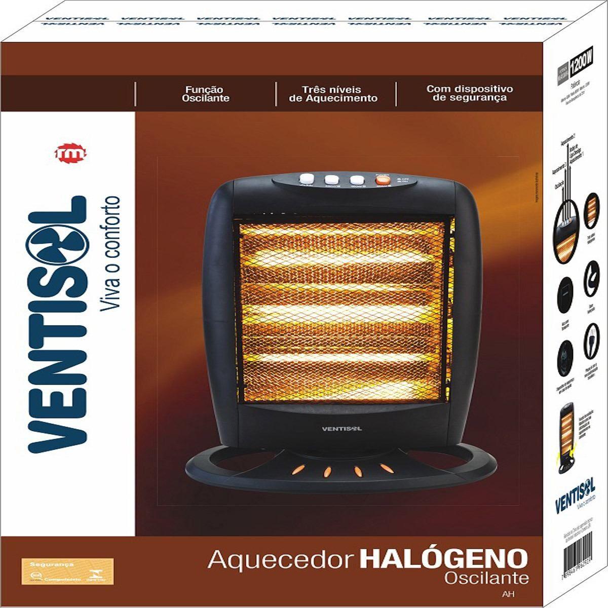 Aquecedor Eletrico Ventisol Halogeno Ah-01 Premium