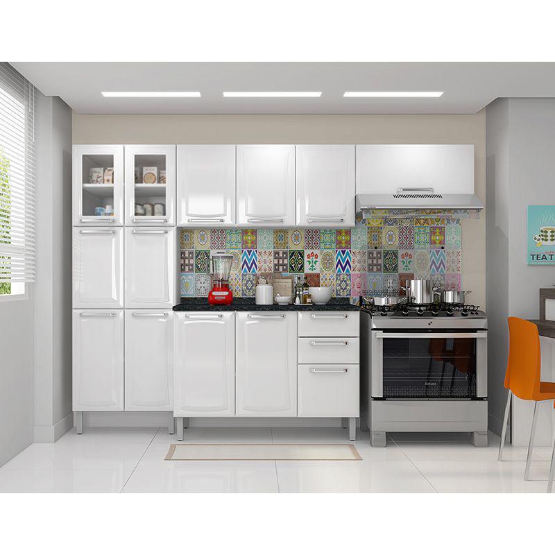 Balcão Cozinha Itatiaia Tarsila 3 Portas 2 Gavetas Branco IG3G2-120