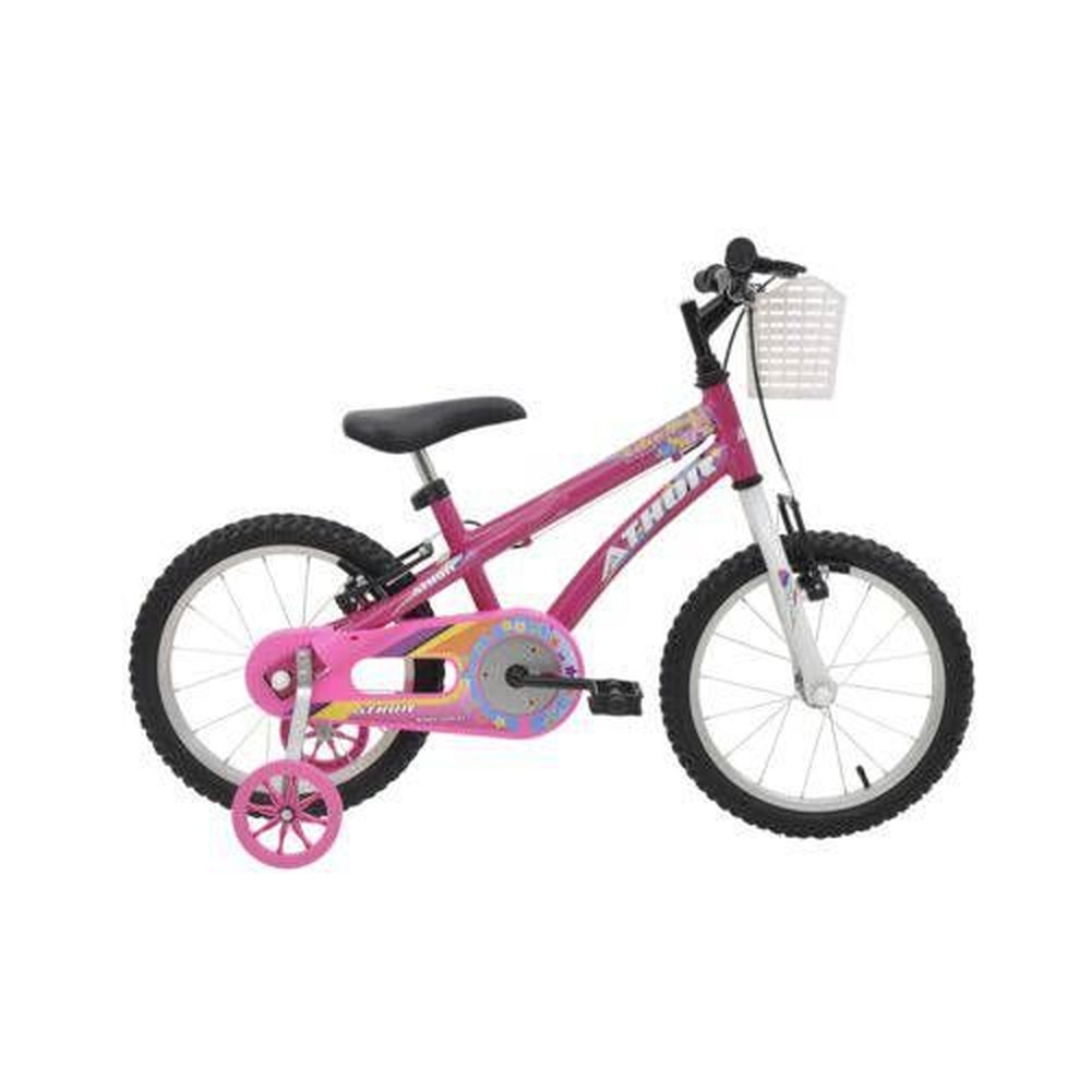 Bicicleta Athor Baby Girl Fem A16 C/ Cestinha Rosa