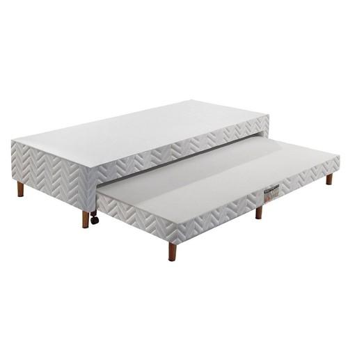 Cama Box Paropas Sleeping White c/ Auxiliar Solteiro 88