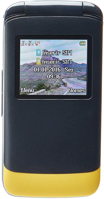 Celular Dl Yc230 Flip - Dual Chip, Tela De 1.8, Câmera, Rádio Fm E Bateria De Longa Duração