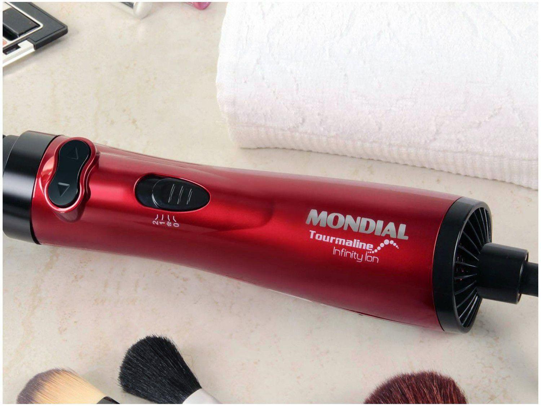 Escova Rotativa Mondial ER 03 Modeladora Cerâmica - Turmalina 1000W com Íons 2 Velocidades