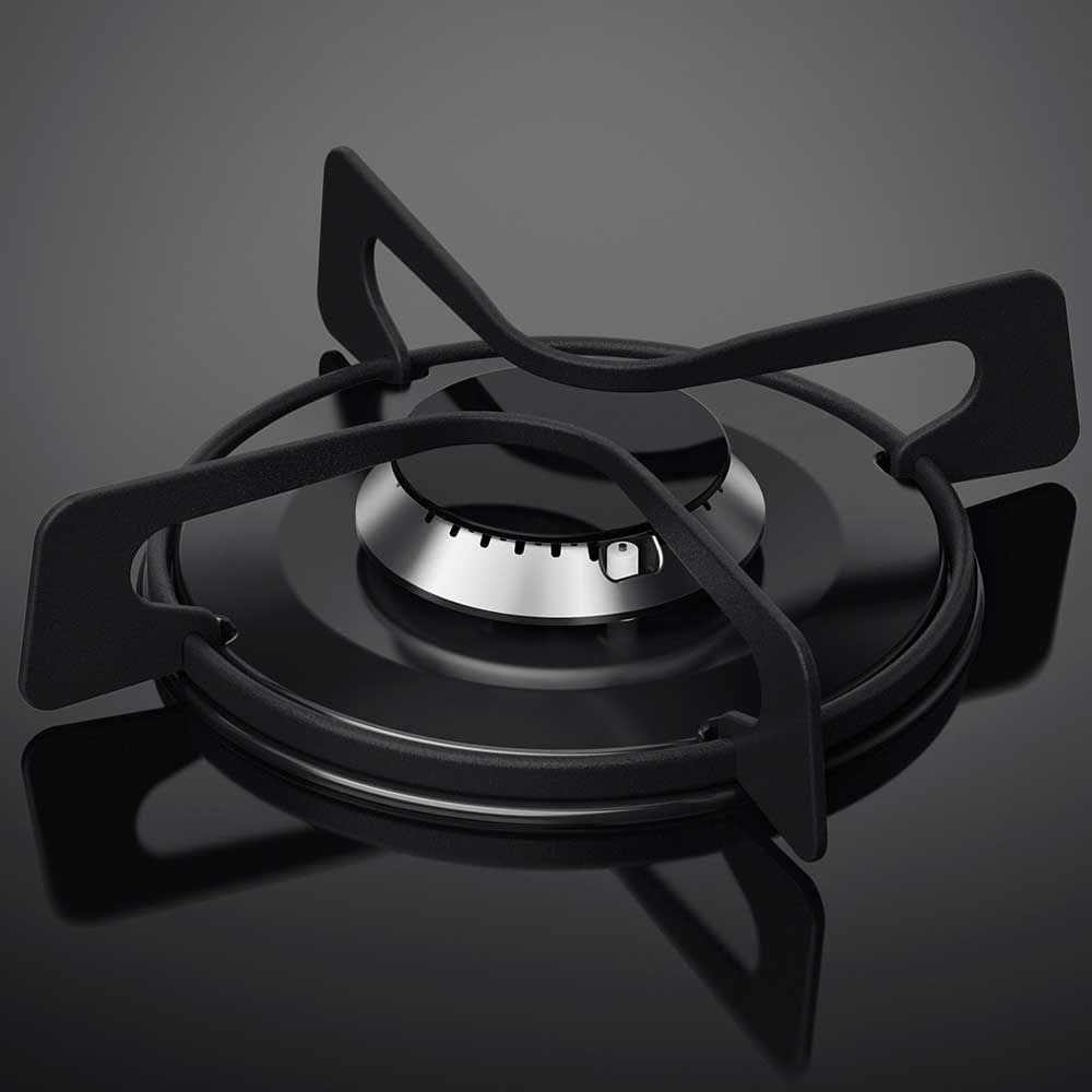 Fogão De Piso Inox Com Mesa De Vidro E Tripla Chama Electrolux (76Usv)