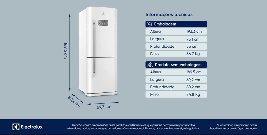 Geladeira/Refrigerador Bottom Freezer 454L (Db53) - 110V