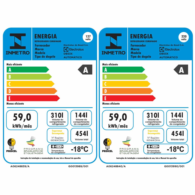 Geladeira/refrigerador Electrolux Frost Free 454 Litros Bottom Freezer (db53x)