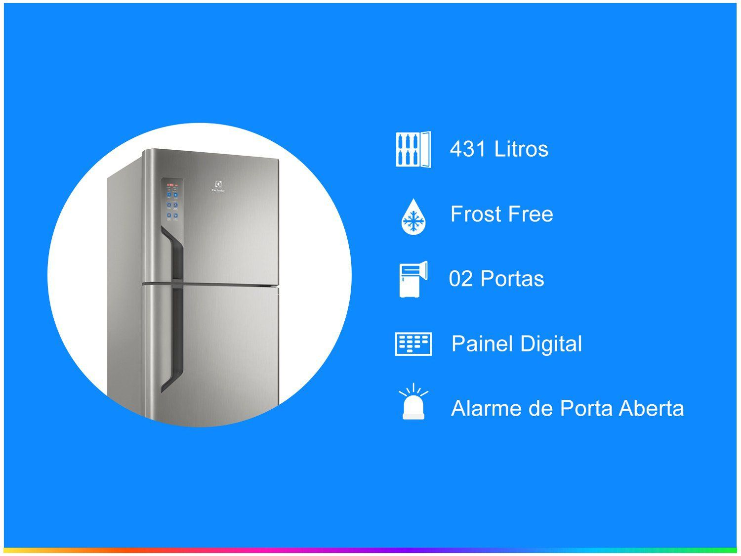 Geladeira Top Freezer 431L Platinum (Tf55) - 110V
