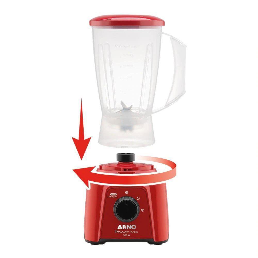Liquidificador Arno Power Mix Lq11 Vermelho 127V