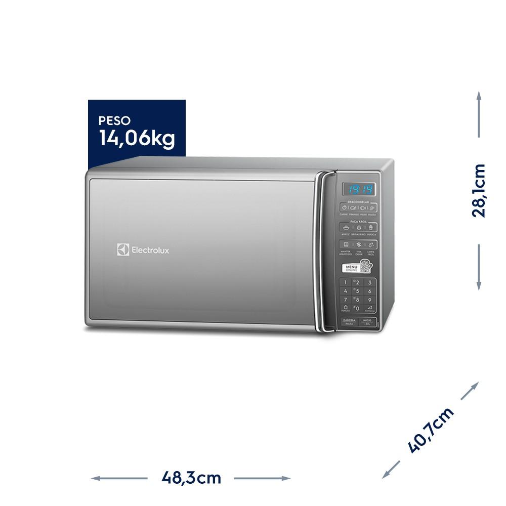 Micro-Ondas Prata 27L Electrolux(MS37R)220v