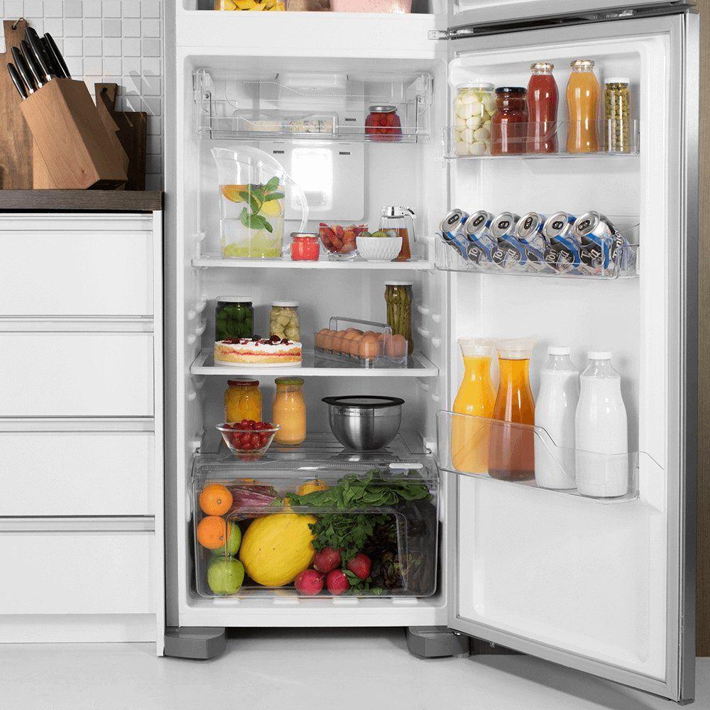 Refrigerador Electrolux DFX41 Frost Free com Turbo Congelamento 371L - Inox