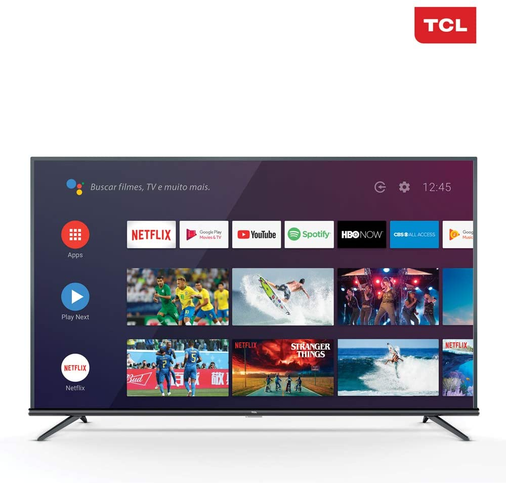 Smart TV 4K LED 50? TCL 50P8M Android Wi-Fi - Bluetooth HDR Inteligência Artificial 3 HDMI 2 USB