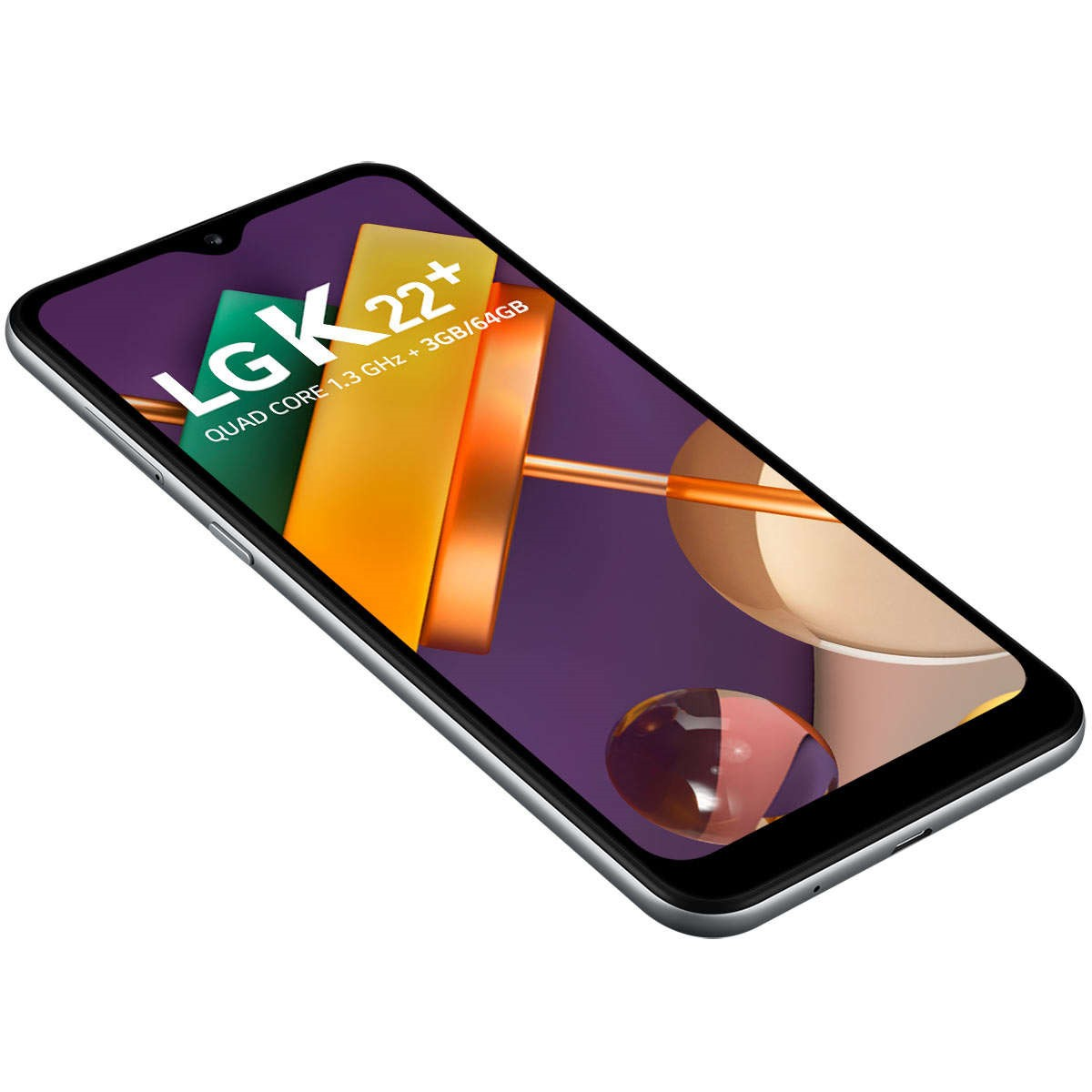"""Smartphone LG K22+ Titan 64GB, Tela de 6.2"""", Câmera Traseira Dupla, Android 10, Inteligência Artificial e Processador Quad-Core"""