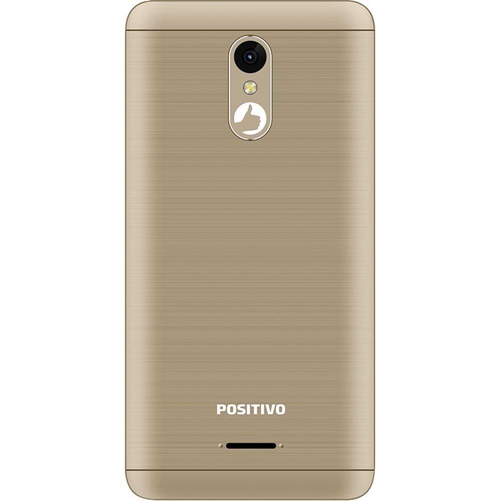 "Smartphone Positivo Twist 3 Fit S509C Dual Chip Android Tela 5"" Quad Core 32GB Câmera 5MP- Dourado"