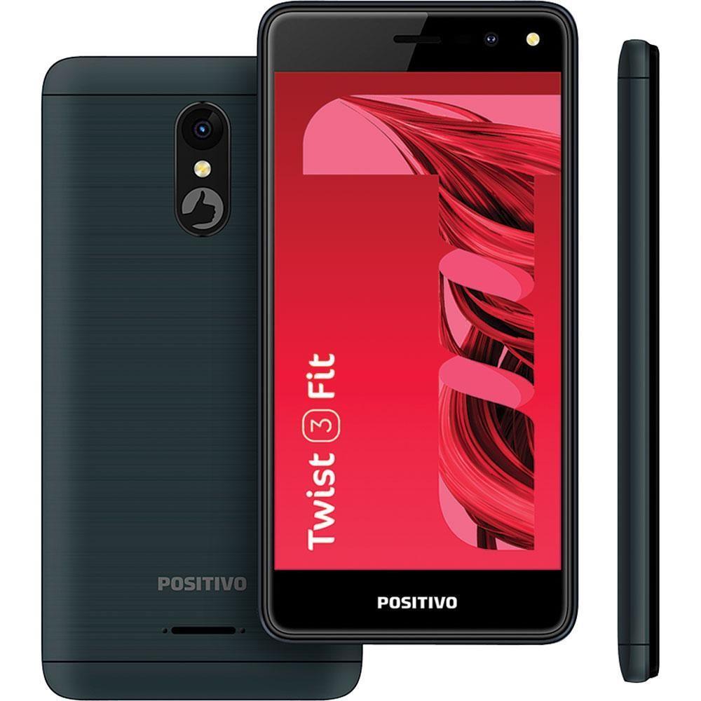 "Smartphone Positivo Twist 3 Fit S509C Dual Chip Android Tela 5"" Quad Core 32GB Câmera 5MP- Grafite"