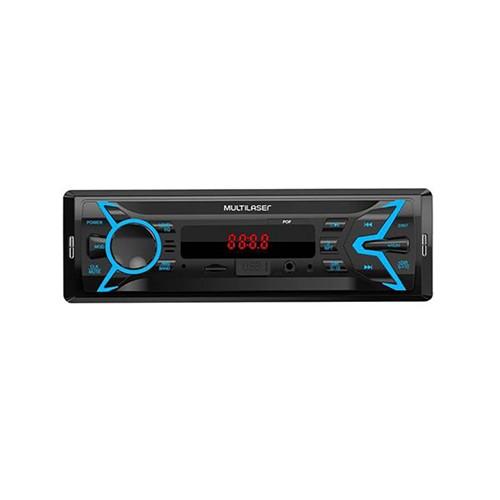 Som Automotivo Pop 1 Din MP3 4x25W RMS Rádio FM + Entrada Cartão SD + USB + AUX Multilaser - P3335