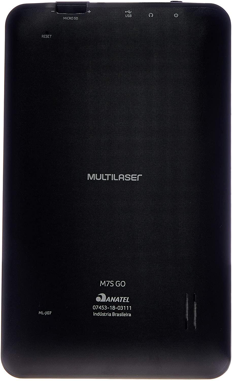 "Tablet Multilaser M7S Go 16Gb Quad-Core 7"" Preto"
