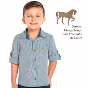Camisa kids manga longa com cavalinhos