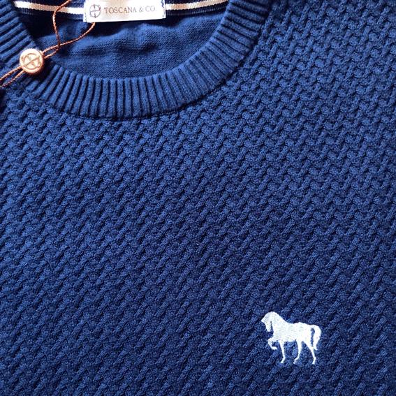 Suéter Masculino Cavalo Bordado