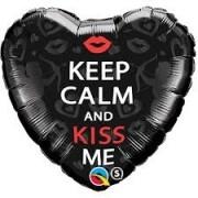 "BALAO CORACAO KEEP CALM KISS 18"" 21831"