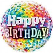 BALAO METALIZADO 18 POL HAPPY BIRTHDAY 49496 QUALATEX