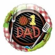 BALAO METALIZADO 18 POL REDONDO #1 DAD COM CHURRASQUEIRA QUA