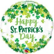 "BALAO METALIZADO 18"" HAPPY ST PATRICK'S DAY QUALAT"