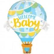 "BALAO METALIZADO 42"" WELCOME BABY BALAO AZUL 78654 QUAL"