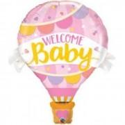 "BALAO METALIZADO 42"" WELCOME BABY BALAO ROSA 78656 QUAL"